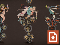 Unicycle Illustration Series