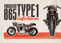 Retro Cafe Racer Motorcycle Ad