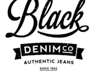Black Denim Vintage Logo