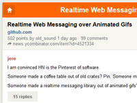 Alternative web interface of Hacker News