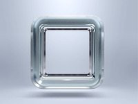 Frosted glass icon border