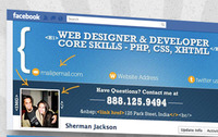 Facebook Timeline Cover for a Web Developer & Designer