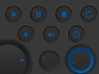 Media Button UI