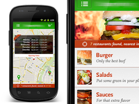 Secret Food App UI