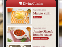 Divine Cuisine, cooking recipe app