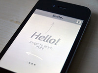 Welcome Screen - iPhone App