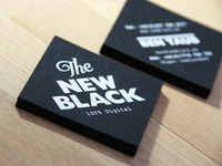 'The New Black' Business Cards