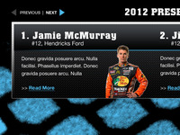 Nascar - Web Slider Hero