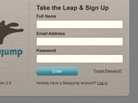 Basejump Sign Up Dialog Box