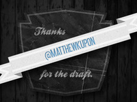 Thanks @matthewkupon