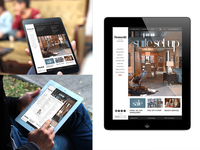 Thomasville Responsive iPad view