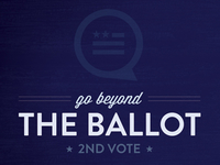 Go Beyond The Ballot (blue)