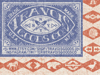 TRAVOIS GOODS CO. AMERICAN FLAG SOUTHWEST LOGO