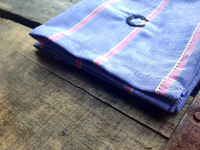 Purple with Pink Shadow Striped Oxford Cotton Pocket Square