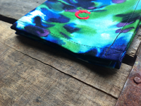 Blue and Green Tie Dye Cotton Pocket Square
