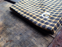 Black and Yellow Plaid Cotton Pocket Square