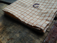 Brown Graph Check Pattern Cotton Pocket Square
