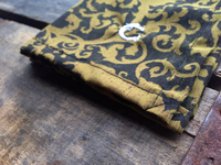 Black and Gold Royal Pattern Cotton Pocket Square