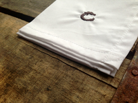 Classic White Cotton Pocket Square