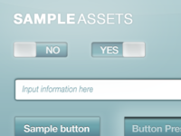 Sample Assets - Light teal color