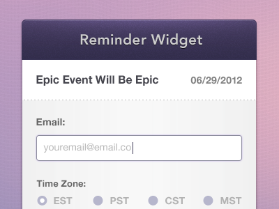 Event_reminder_widget