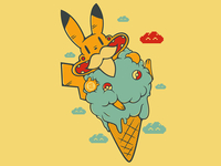 Pokemon - Moustache - Cloudartist - Momosimone