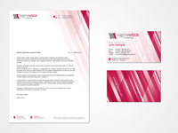 sigmavista letterhead + business card