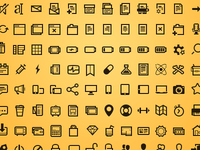 Steady set of icons