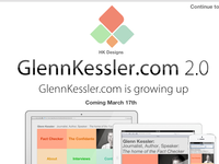 GlennKessler.com 2.0 Coming Soon