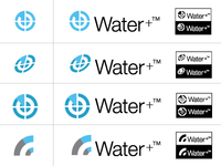Water+ icon/logo roughs