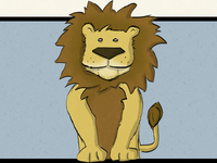 Illustratred Lion