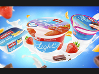 Muller Yoghurt illustration
