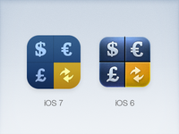 iCurrency Pad Icon for iOS 7 WIP