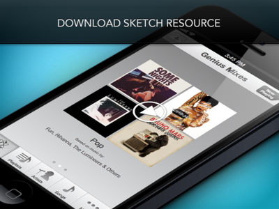 Download iOS Music Genius Resource .sketch