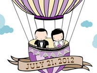 Custom Wedding Invitation Crop