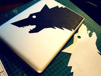 Wolf Mac Decal