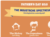 Father's Day 2013 – The Moustache Spectacular