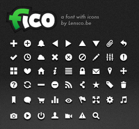 Fico - a font with icons