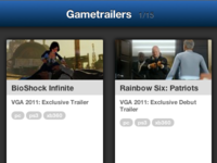 Gametrailers iPad viewer
