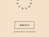 2013 Astrology Calendar Packaging