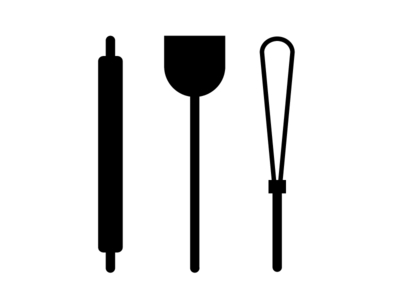 Three icons for The Noun Project