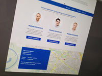 flat design contact site with google maps