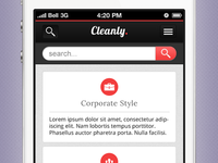 Cleanly. mobi Search & About