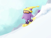 Spirit mountain. Little snowboarder