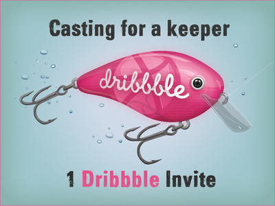 Dribbble Lure Invite. Get fully hooked as a player.