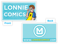 Lonnie Comics Business Card 2013