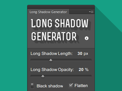 Download Long Shadow Generator for Photoshop