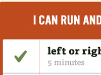 I can run and...