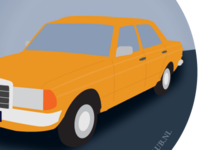 Mercedes W123 illustration