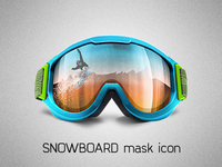 Snowboard Mask Icon